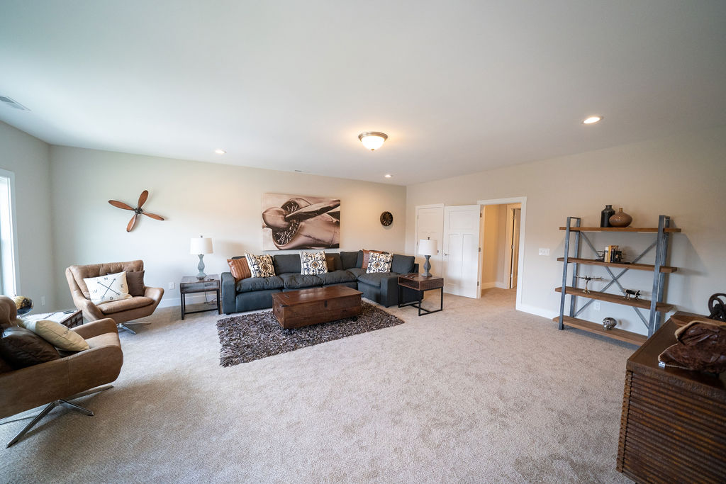 Large, open living room area