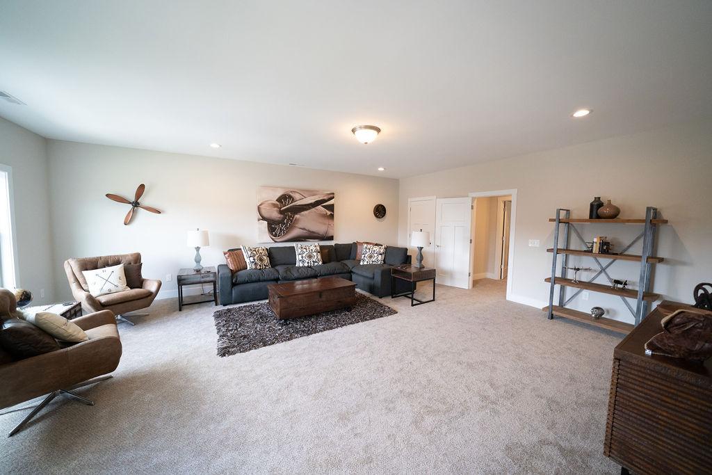 Alternative shot of large, open living room