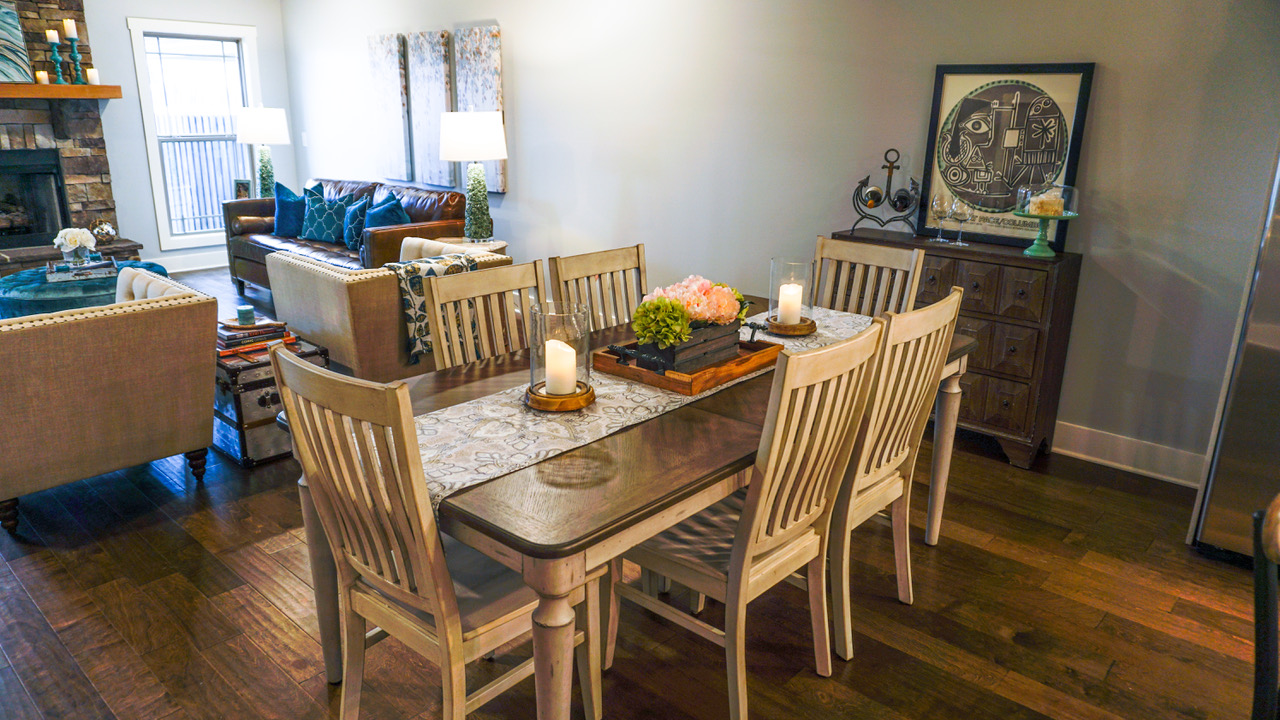 Six-chair dining room table