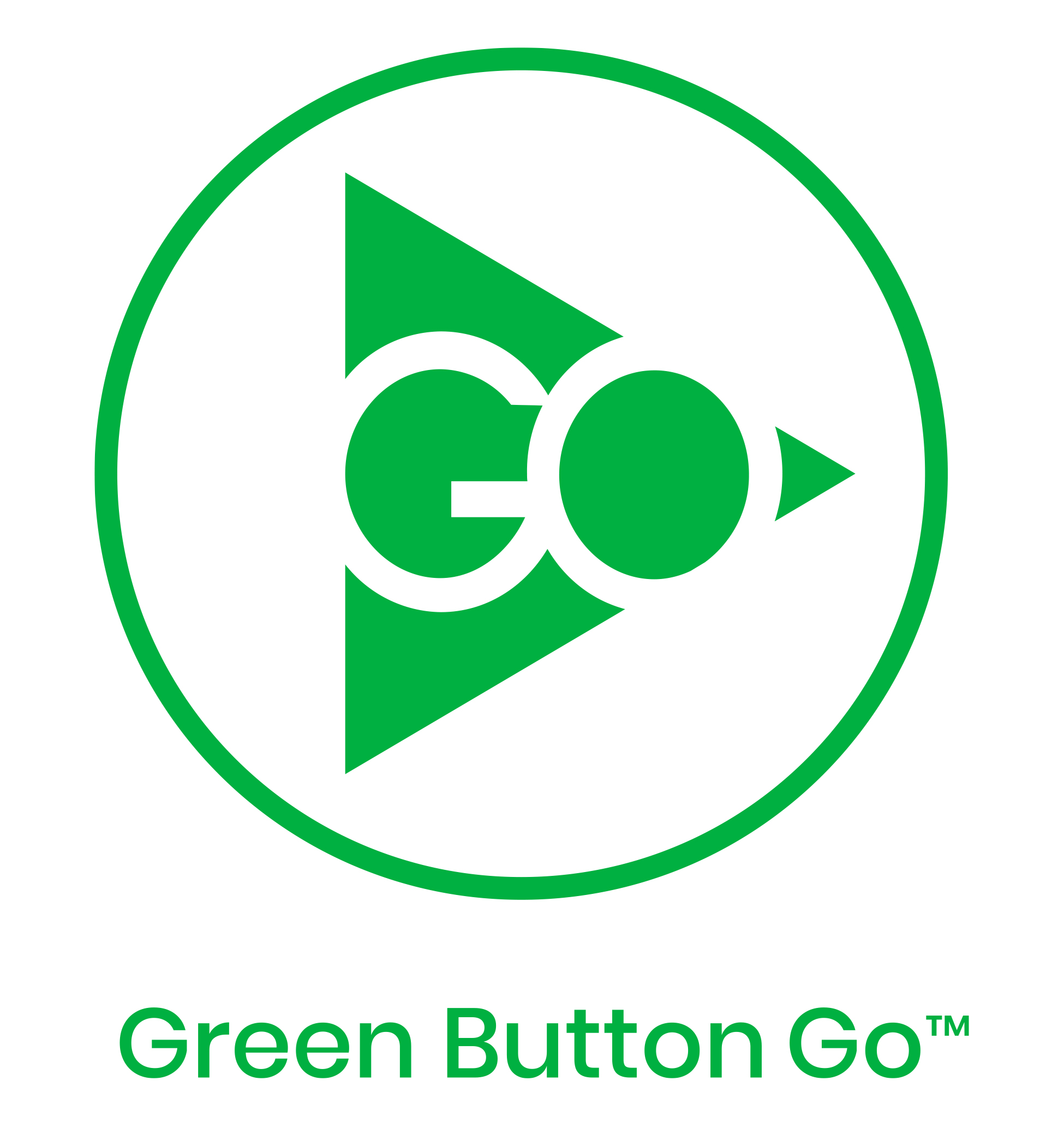 Green Button Go Logo Green