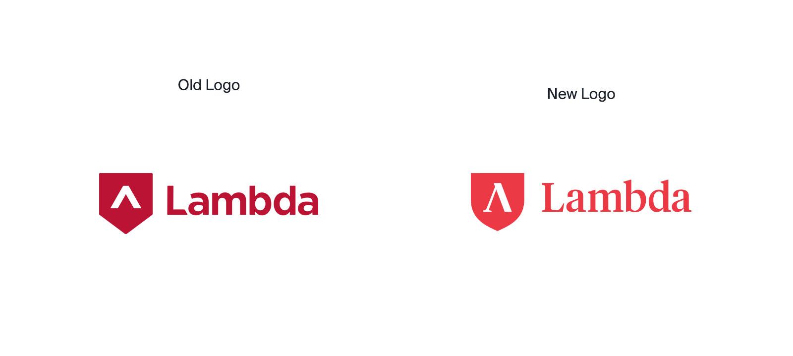 Lambda's old logo vs new.