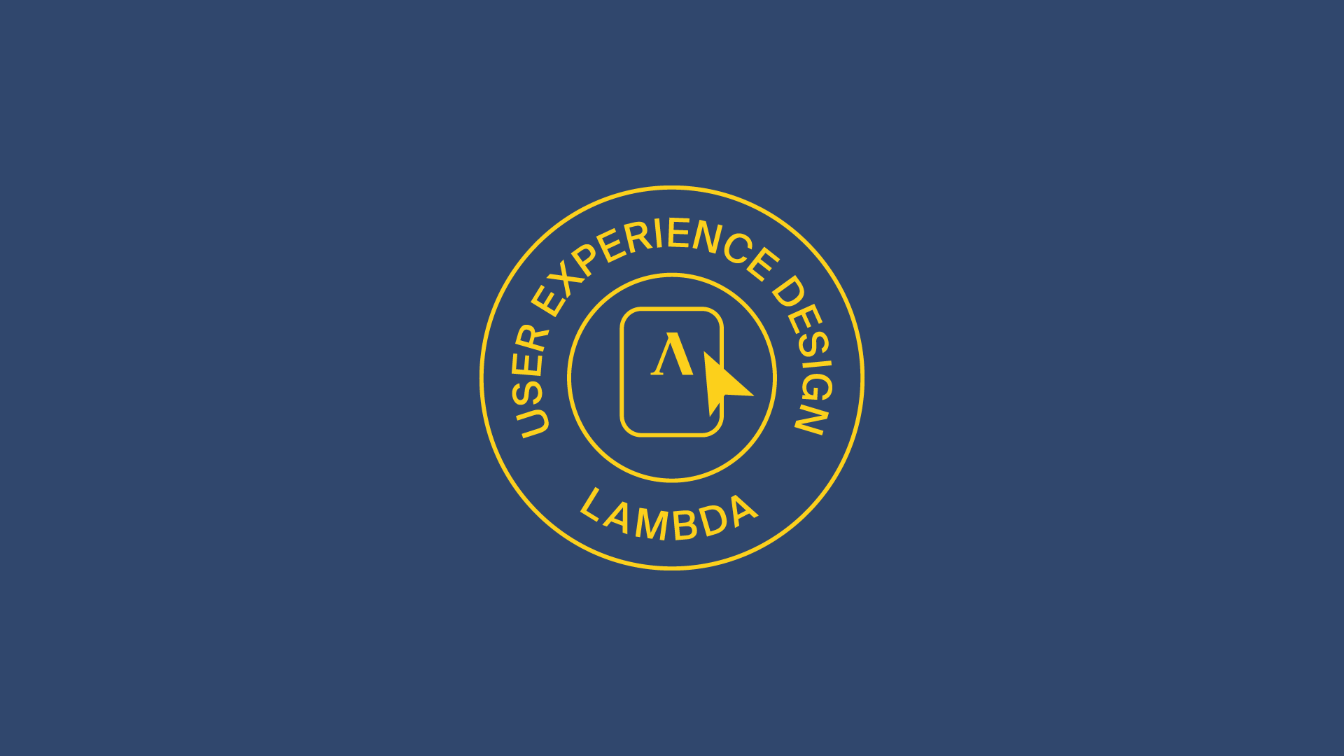 Lambda School UX shield on a blue background