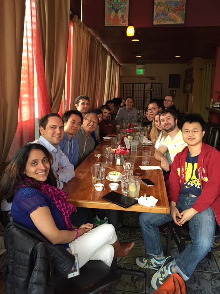Namrata Ganatra with Facebook team