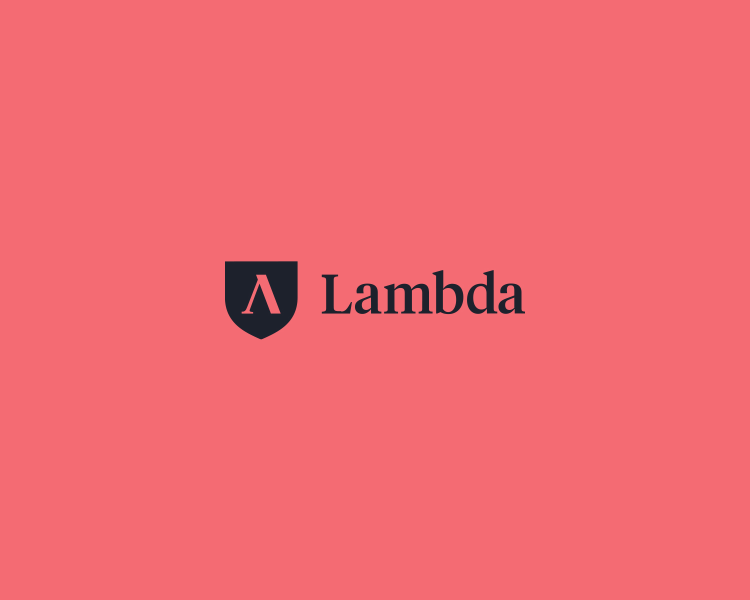 Lambda logo on red background