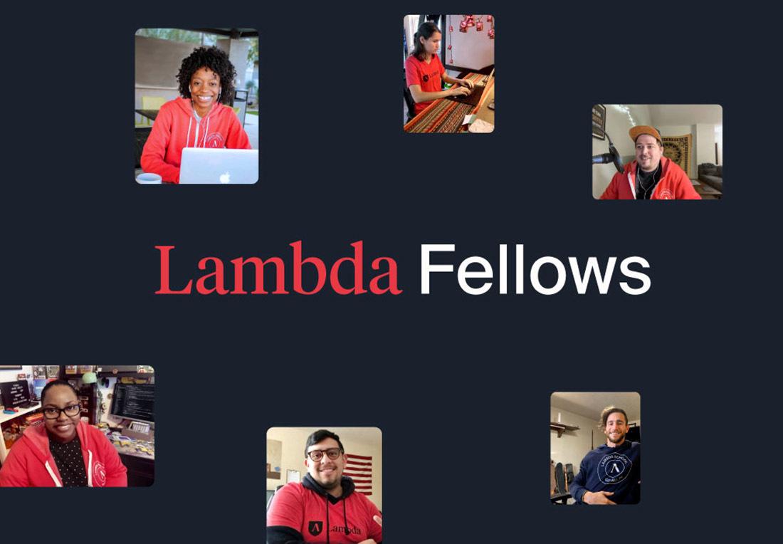 Lambda Fellows on black background