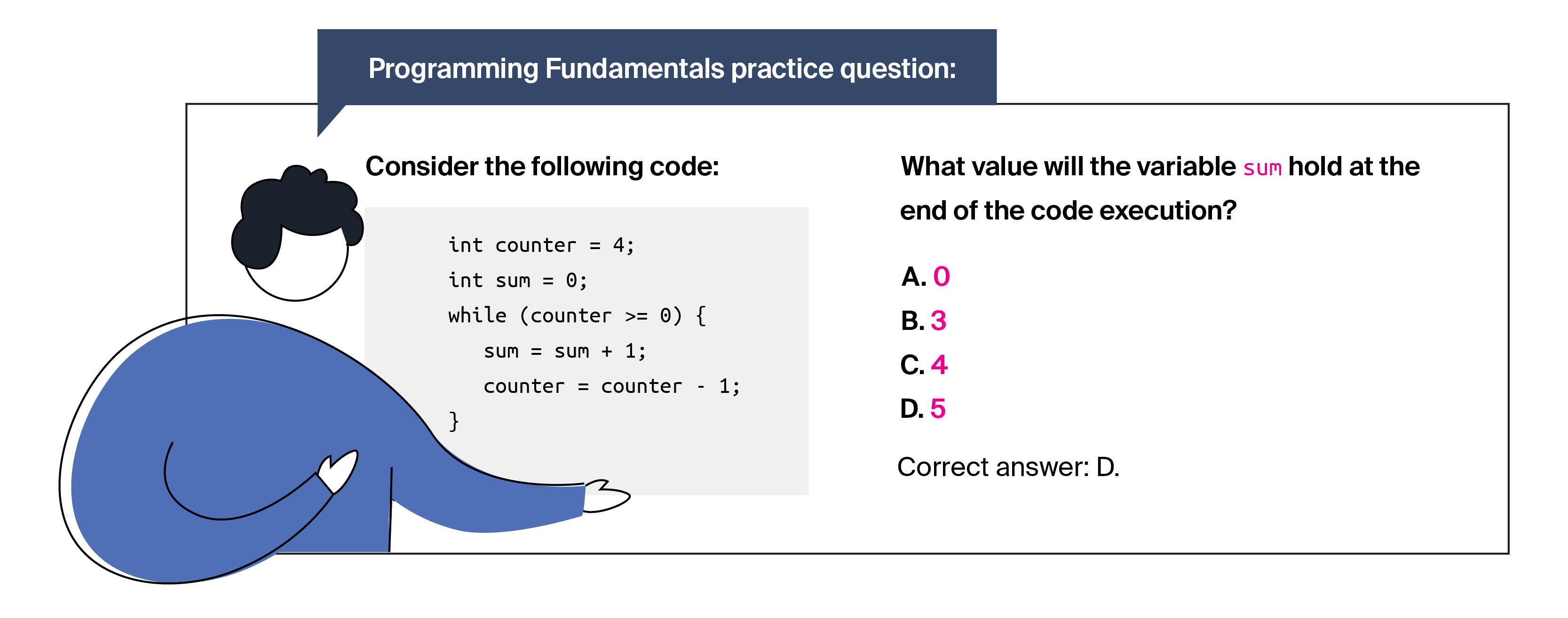 programming fundamentals practice question