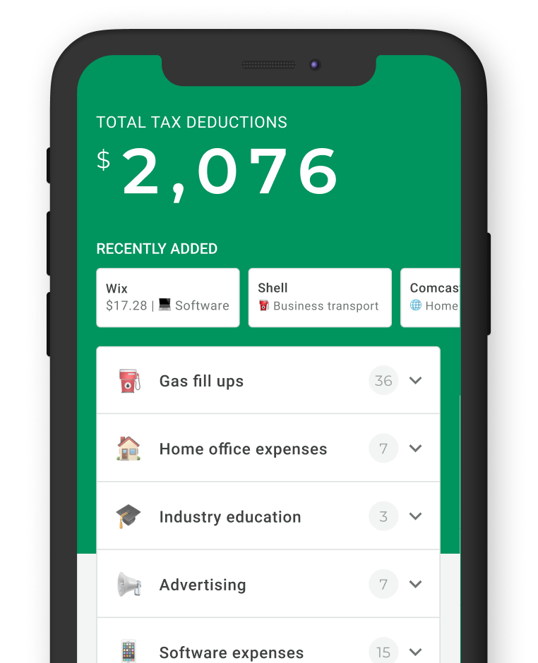 Keeper tax app on cellphone