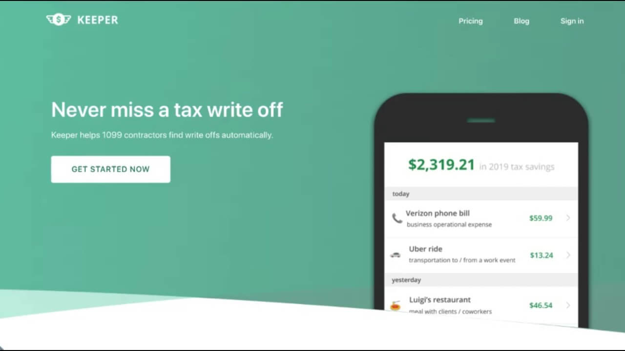 Quickbooks Self-Employed Alternative: Keeper Tax