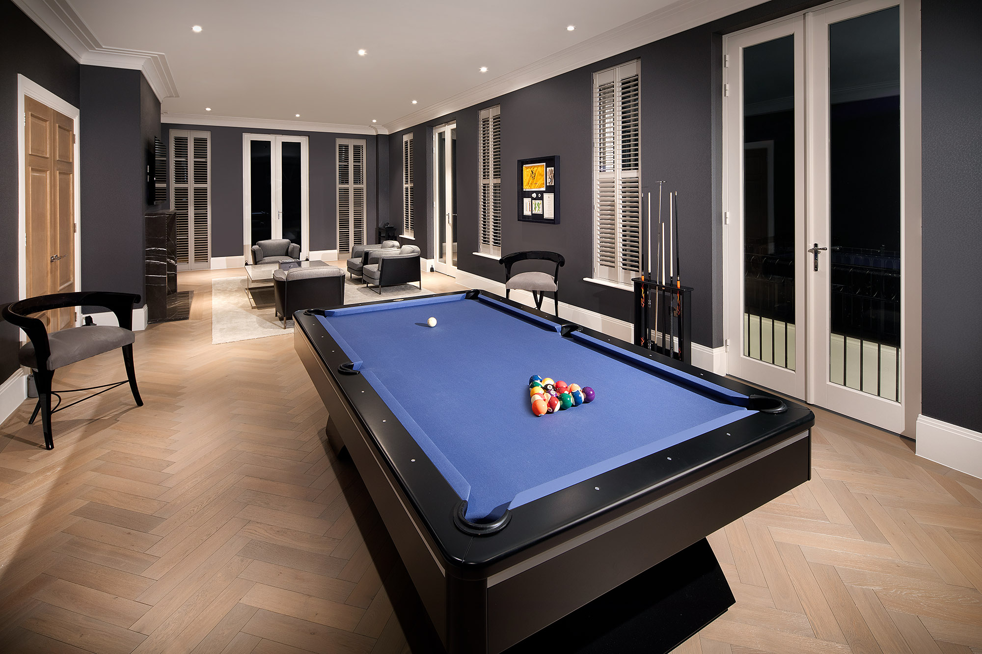 grand games room in mansion