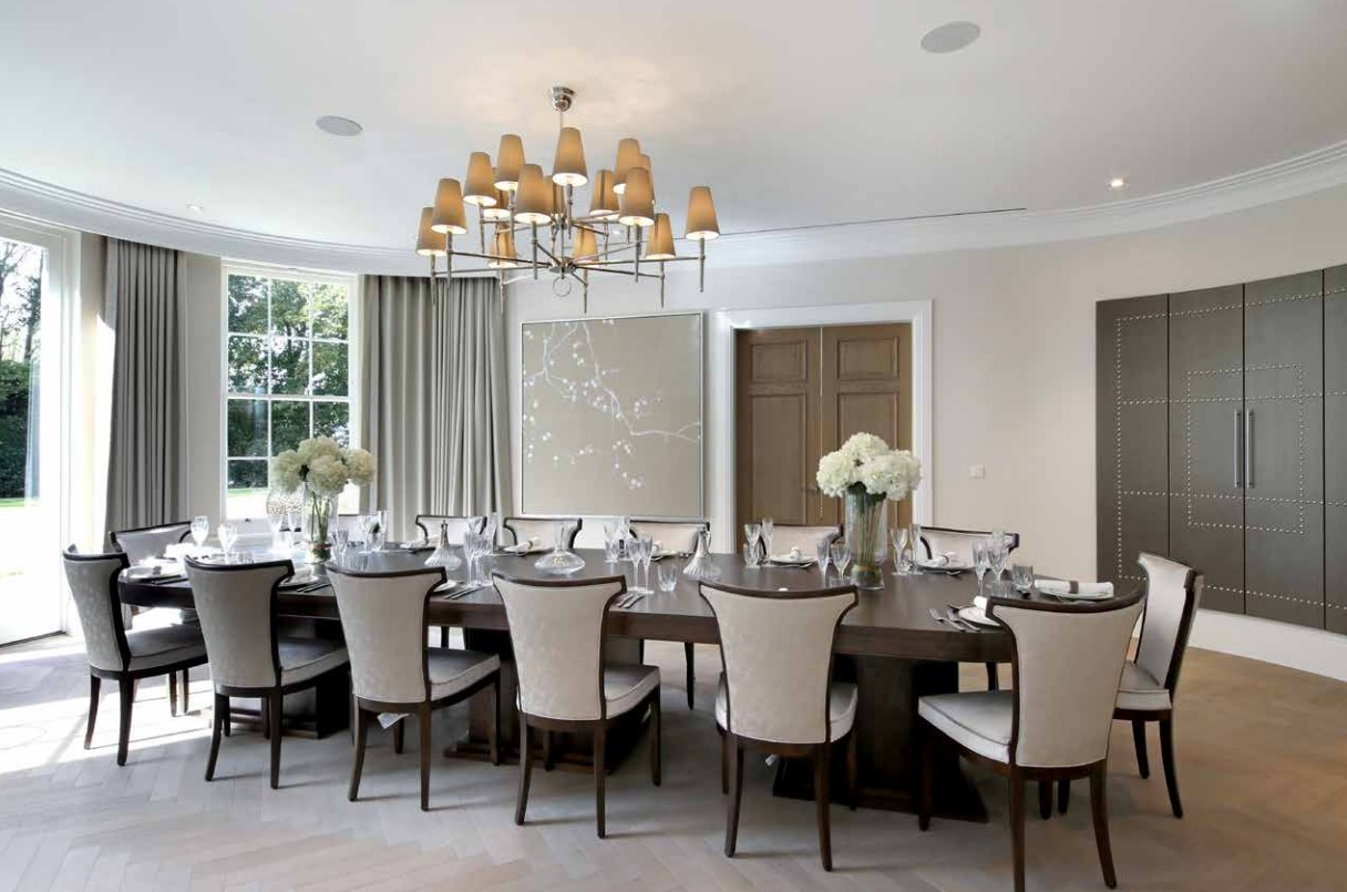 dining room with seats for 12