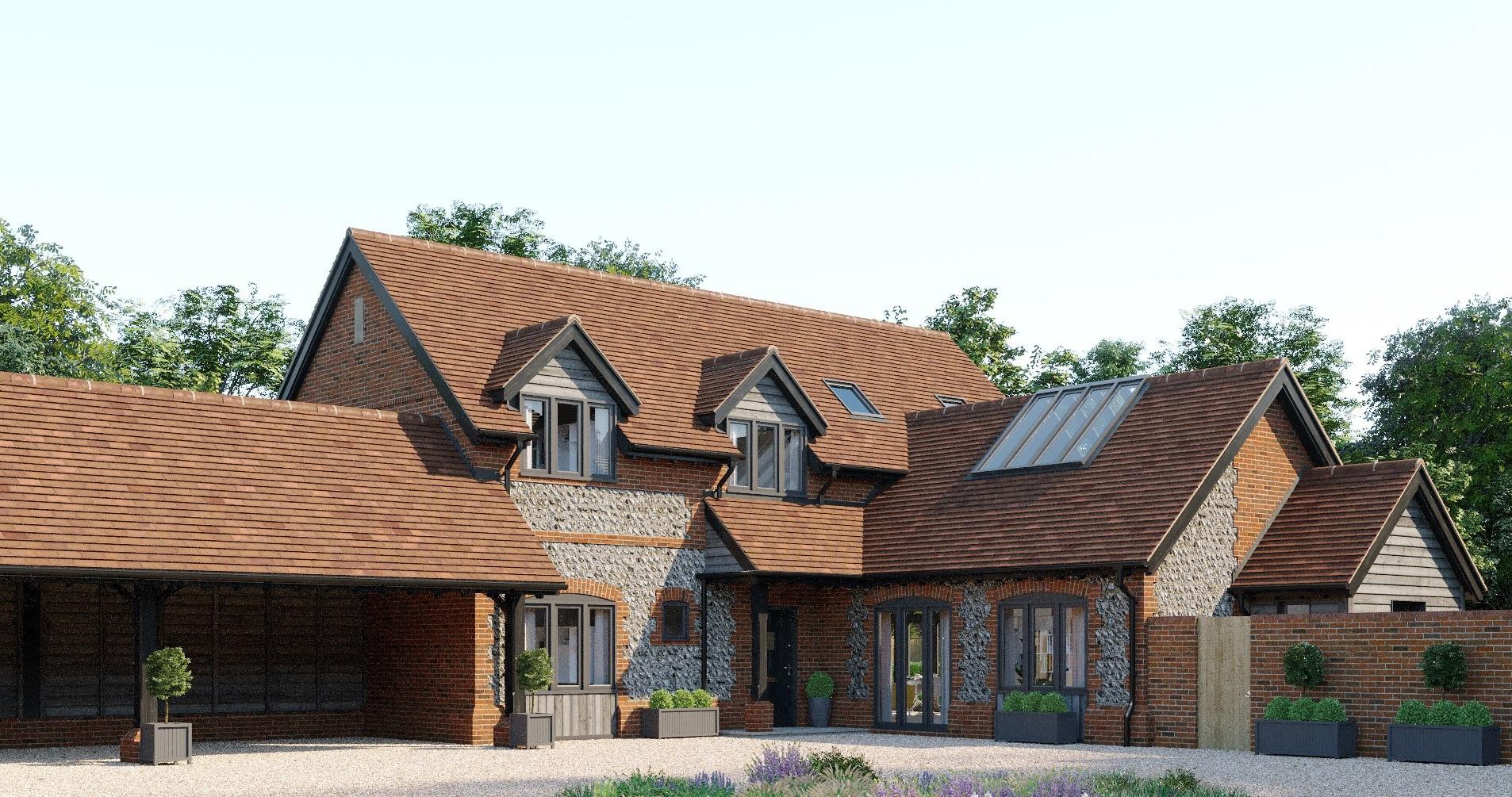 A barn style home