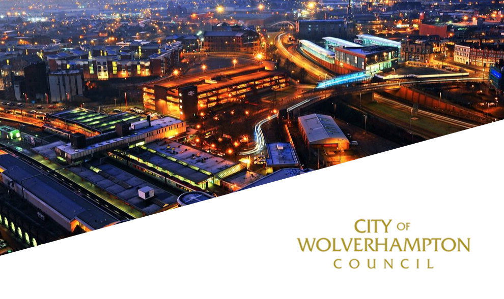 Aerial view of City of Wolverhampton