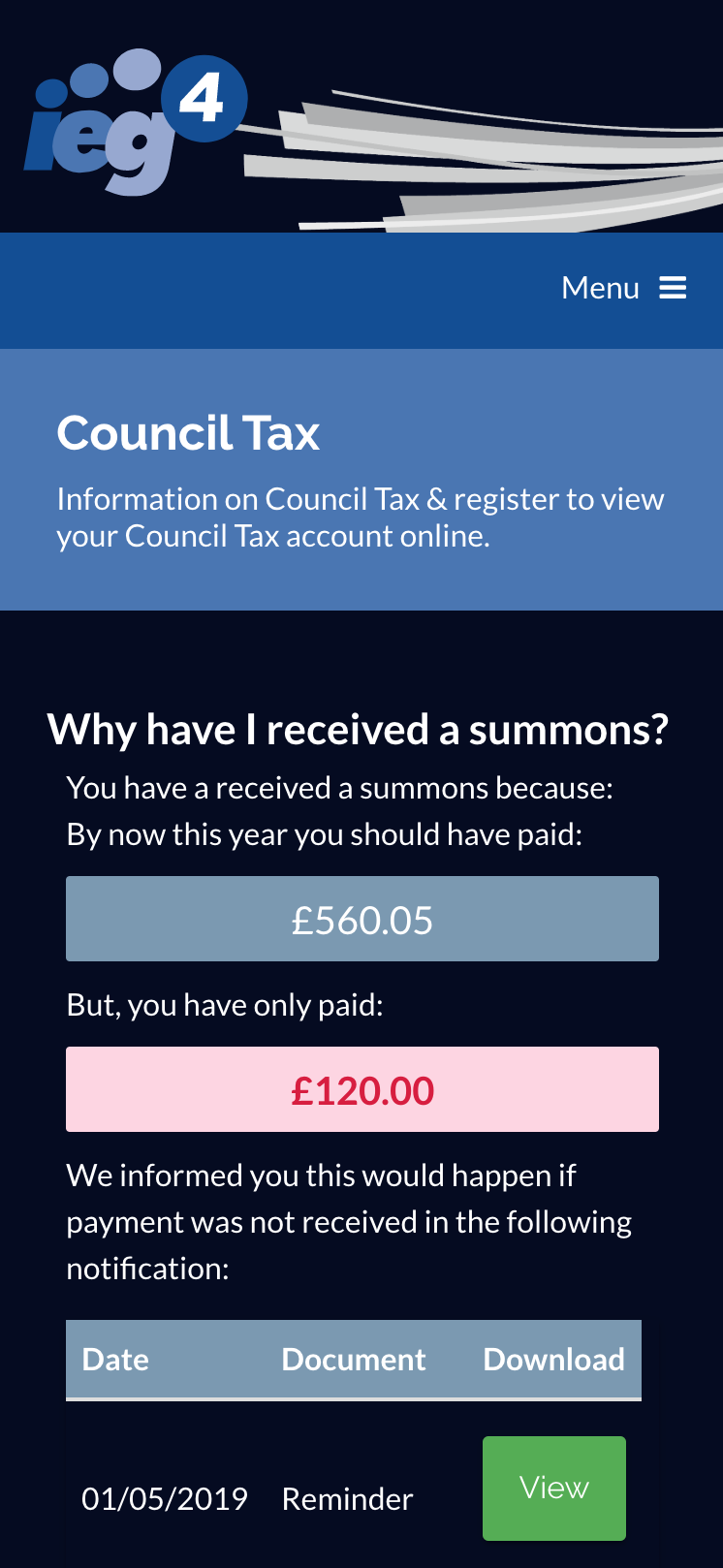 Council Tax Recovery
