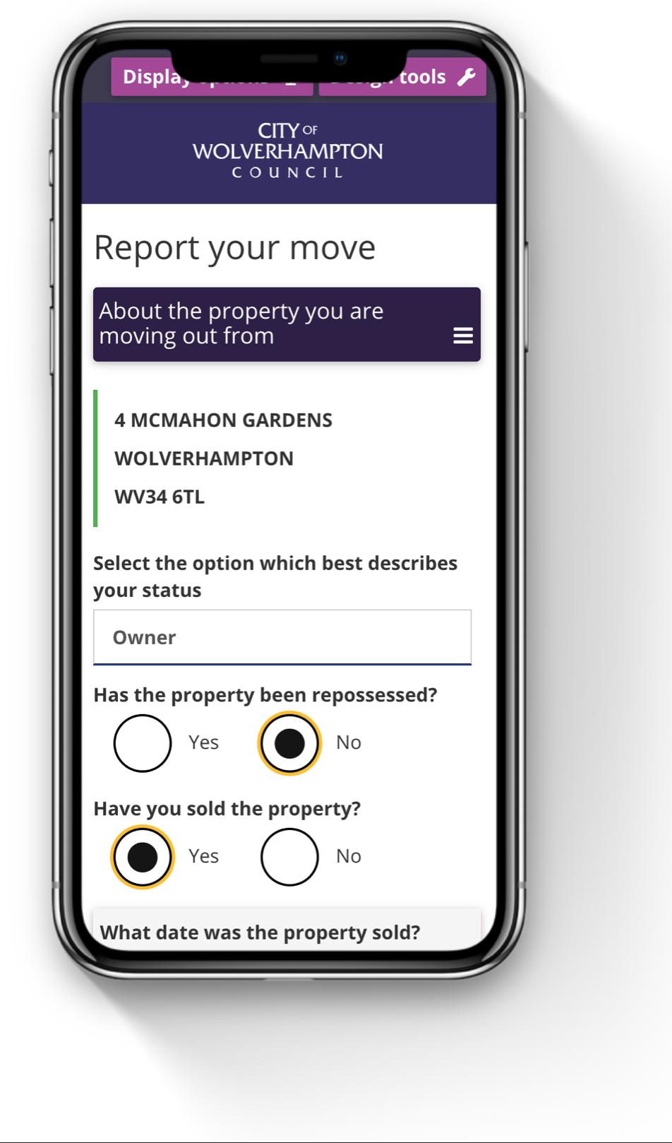 Report a move form