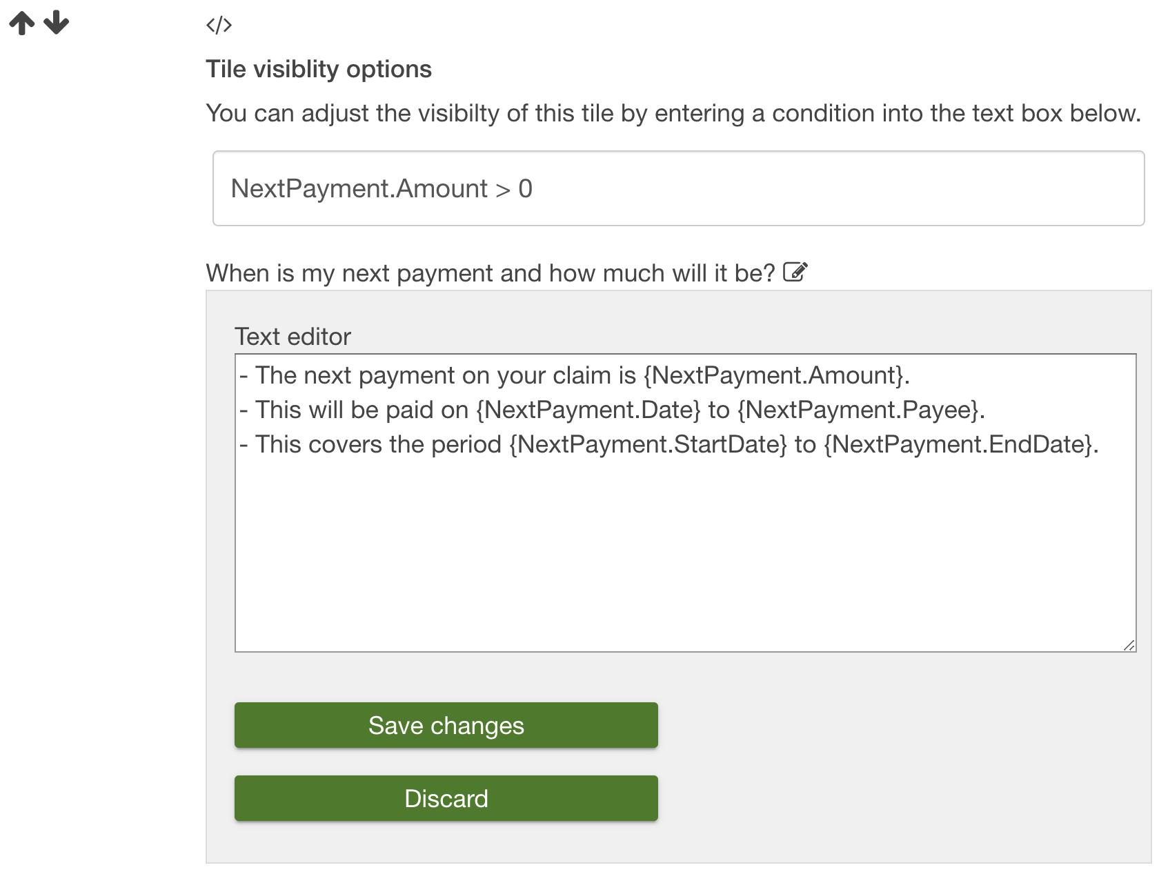 IEG4's OneVu showing personalised FAQ's