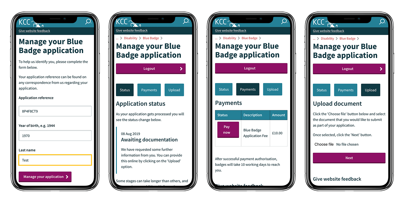 Blue badge self service platform