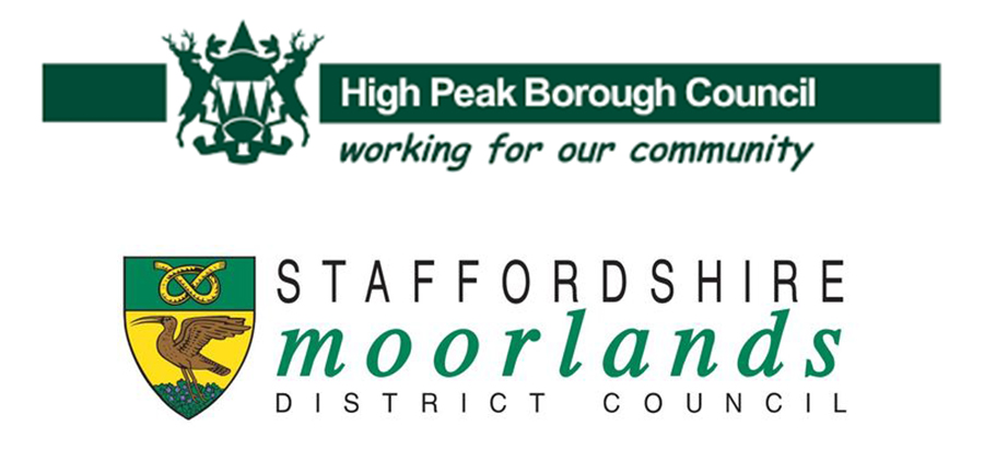 High Peak & staffordshire moorlands council logo