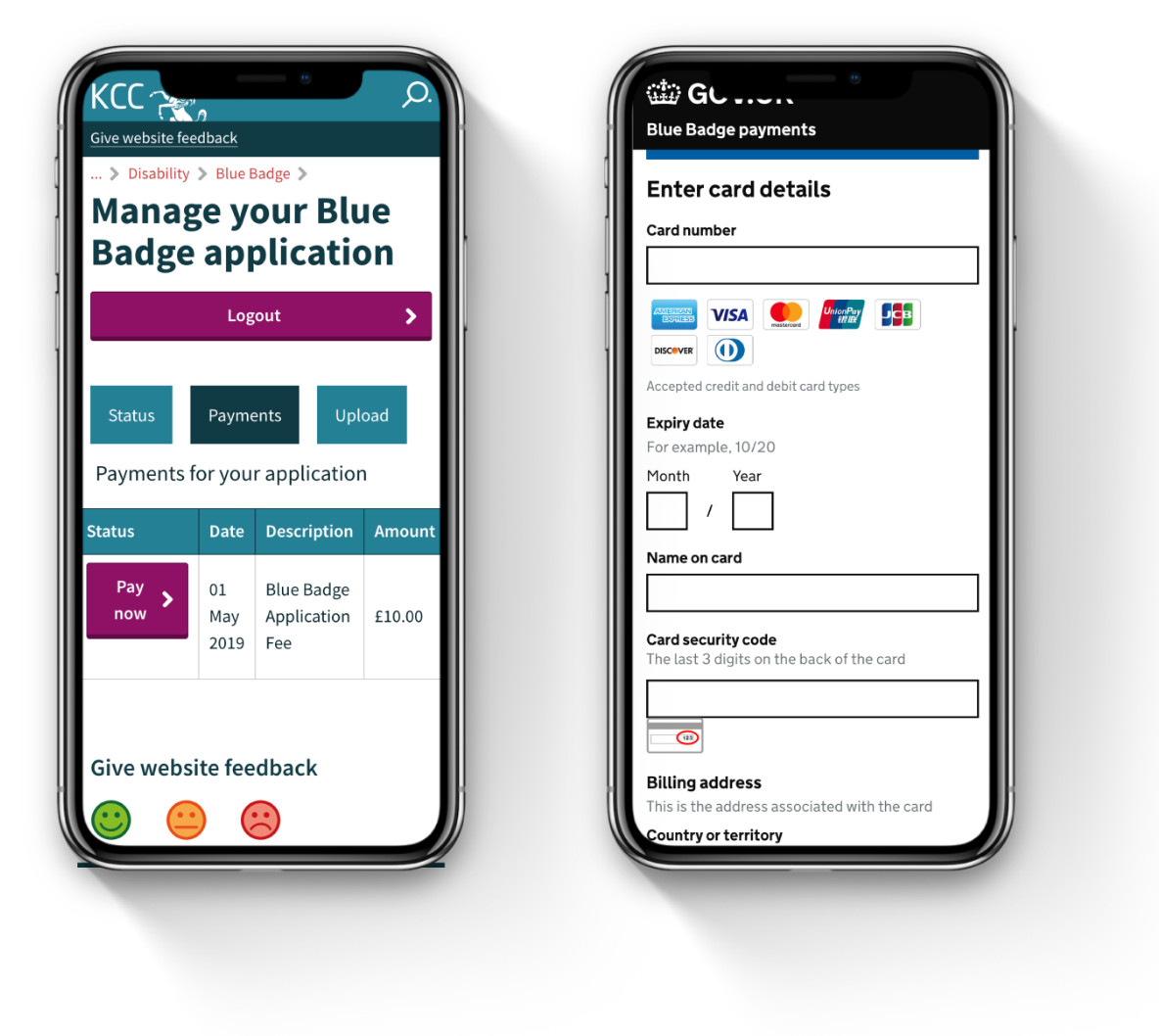 Blue badge case management self service portal