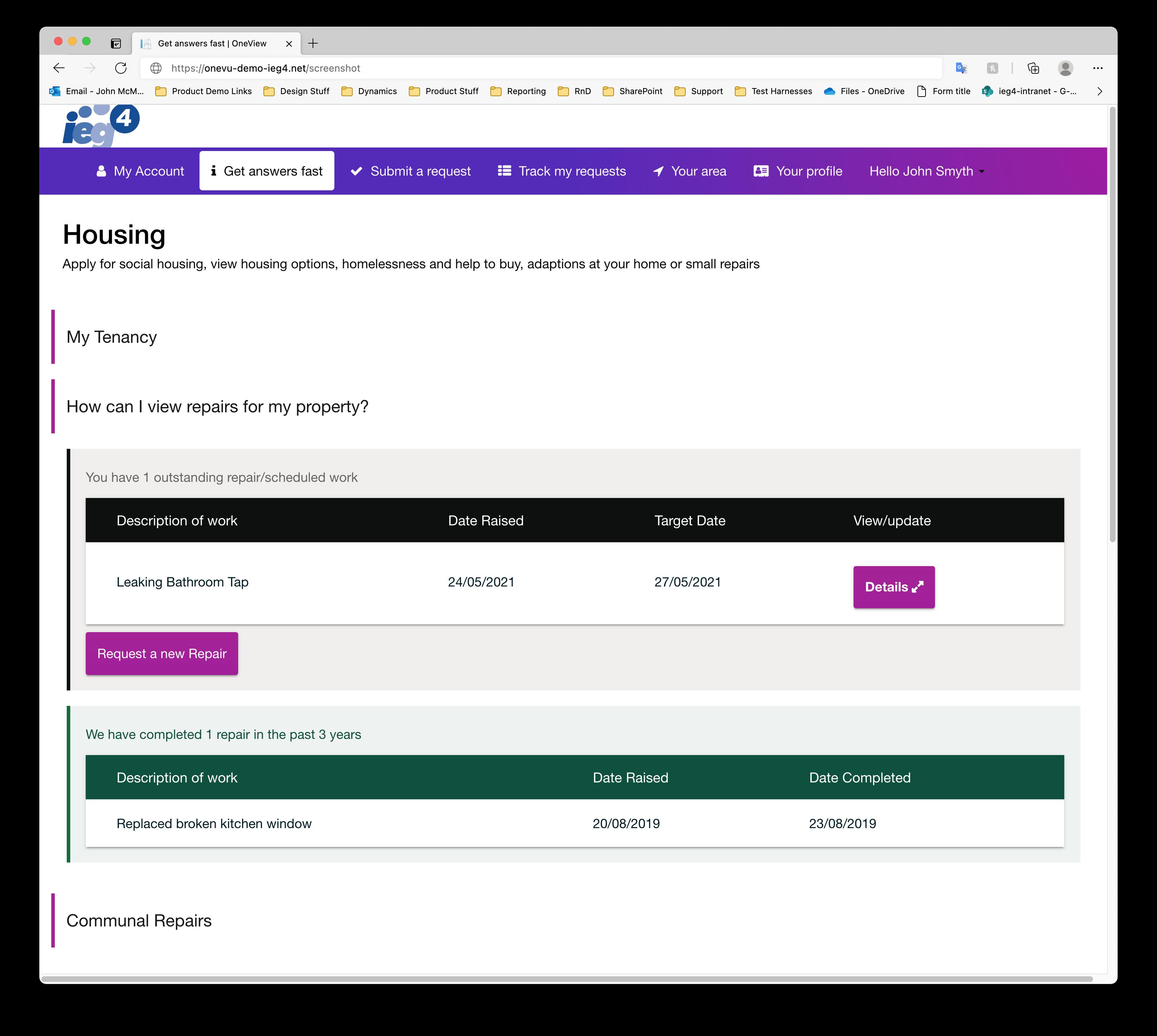 IEG4 Housing Solution Screenshot