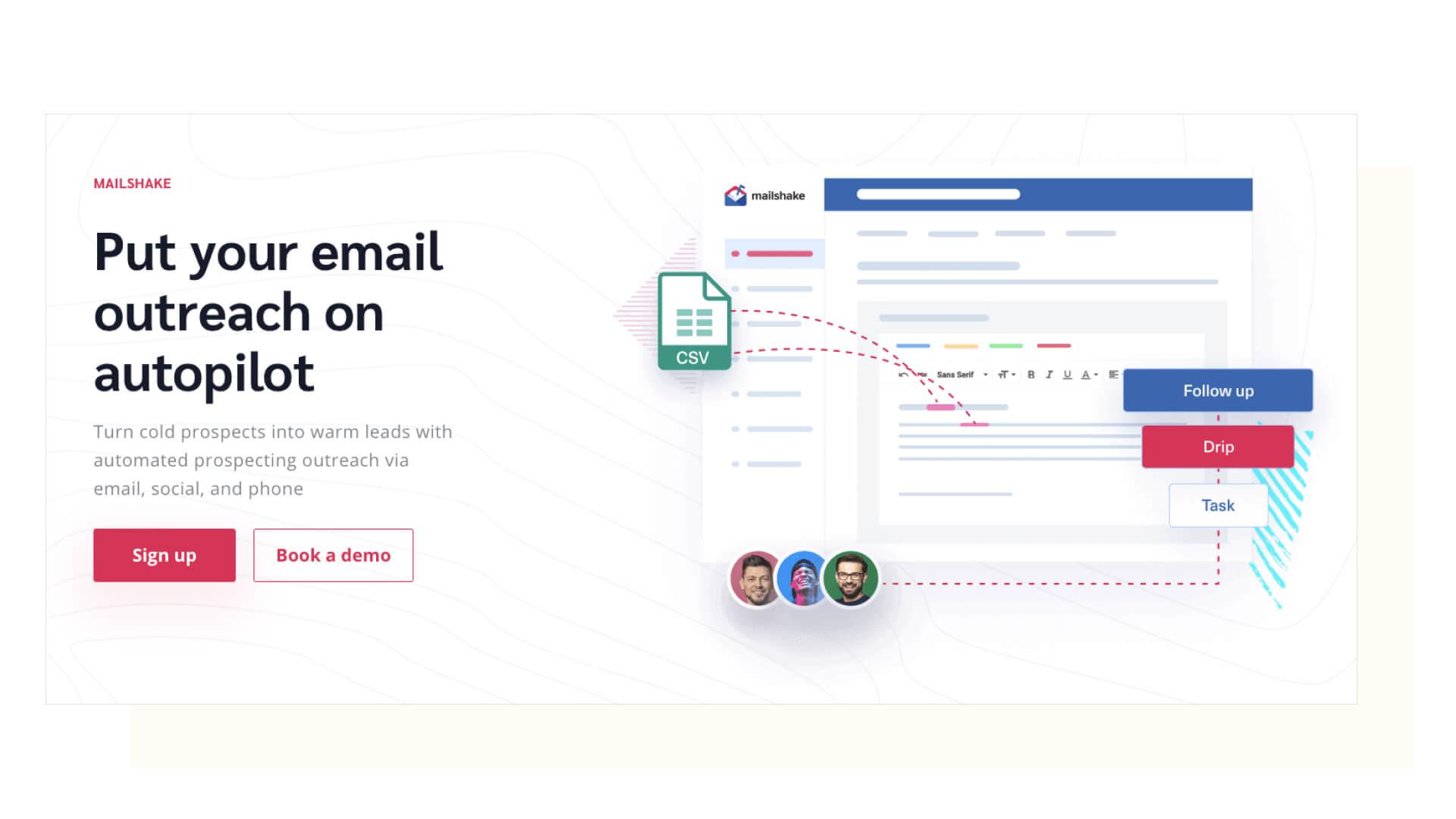 Mailshake Homepage Screenshot