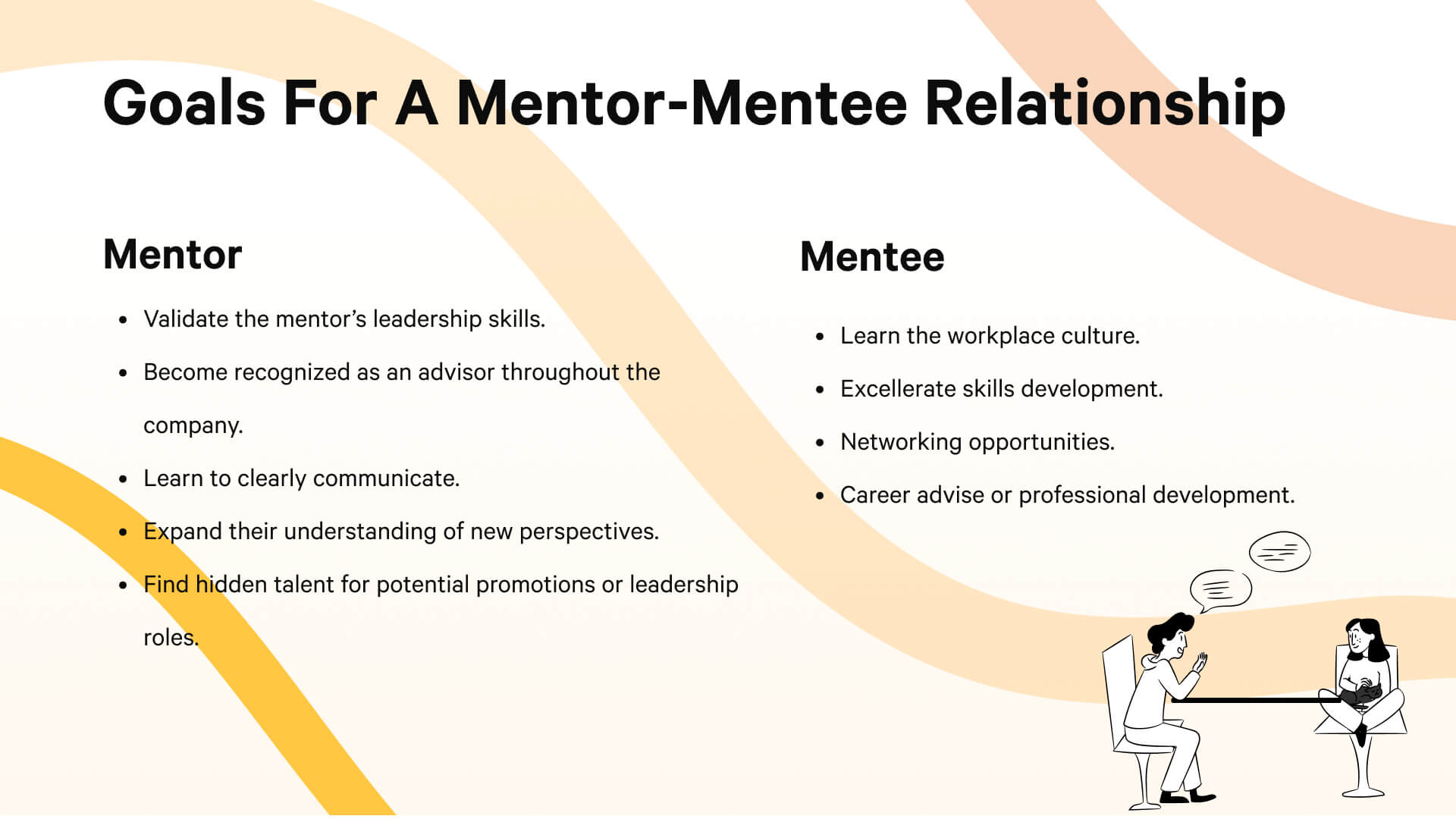 Goals for a Mentor-Mentee Relationship