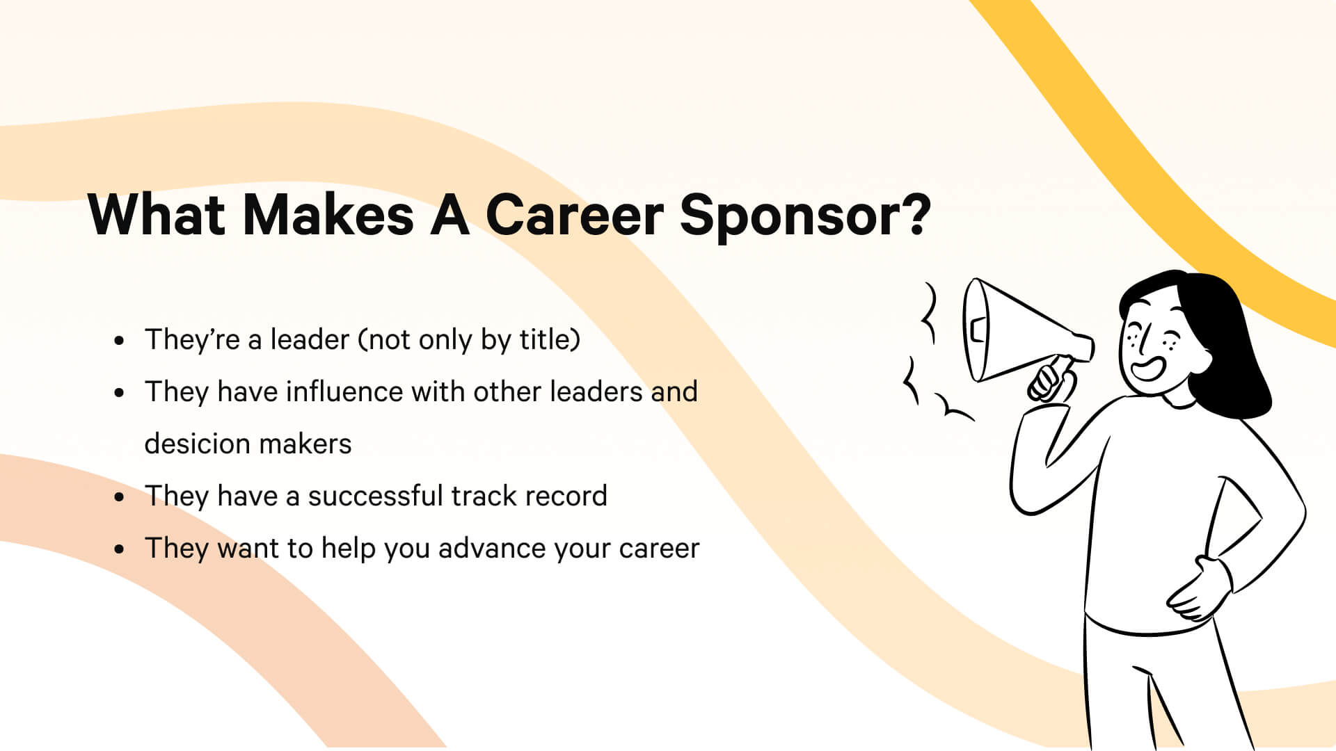Four attributes of a workplace career sponsor