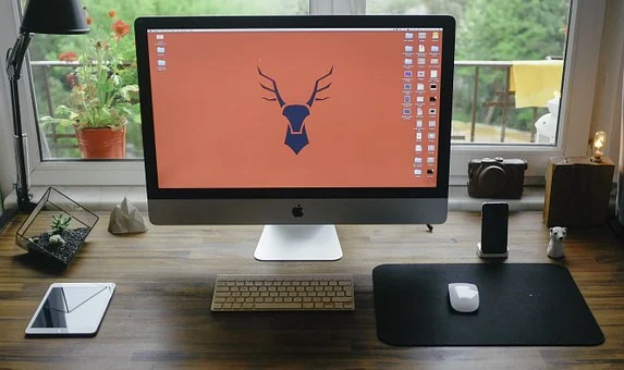 Stock image of a home office.