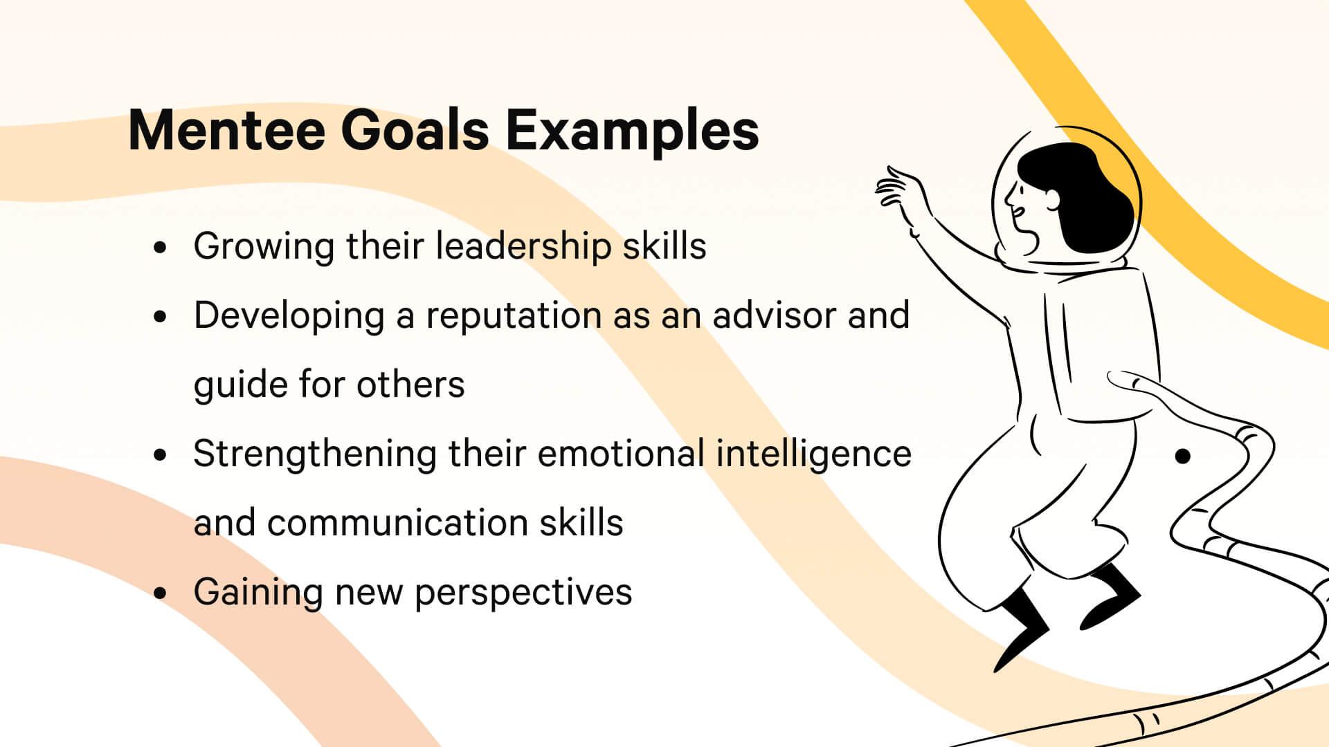 Examples of mentee goals for a mentorship program