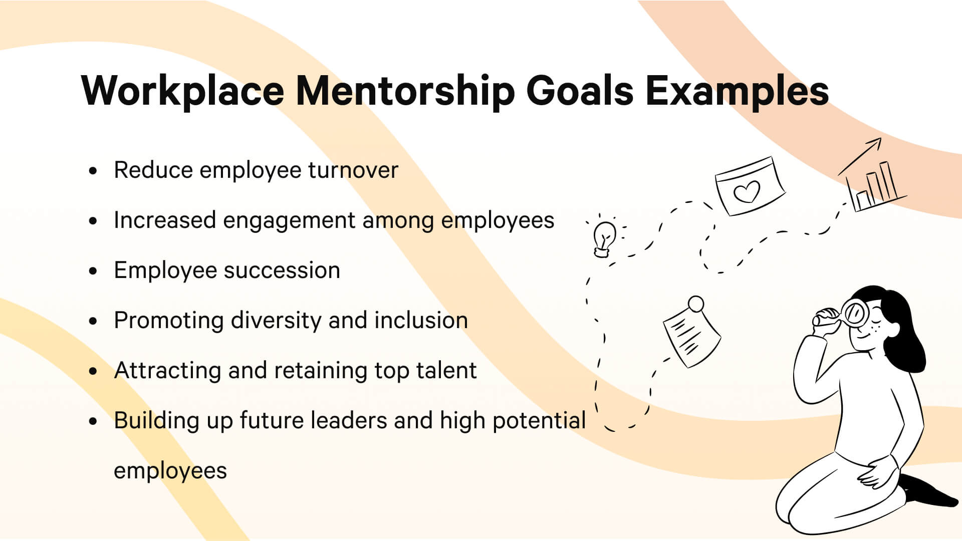 Examples of workplace mentoring progam goals