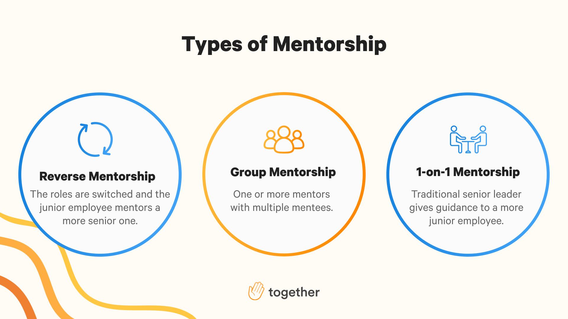 Three types of mentoring programs.