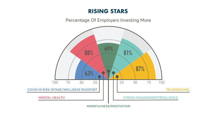 Mental health is getting the most investment from employers.