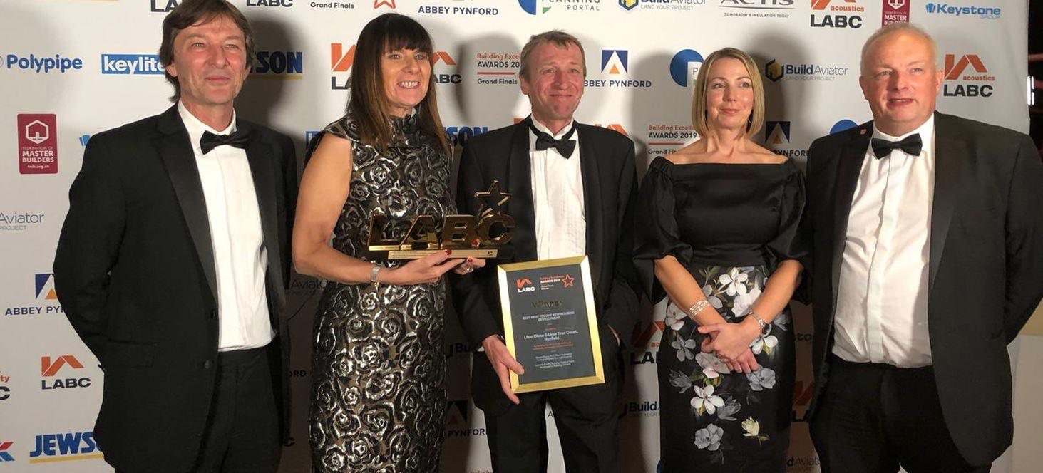 Mears New Homes has won the LABC National Award for Best High Volume Housing Development. The award recognises its Garden Avenue and Furzen Avenue projects.