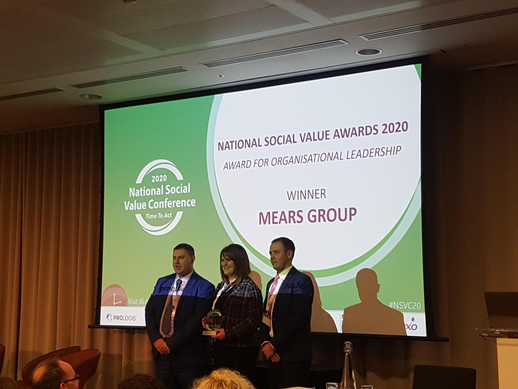 Mears Wins Top Award at National Social Value Awards