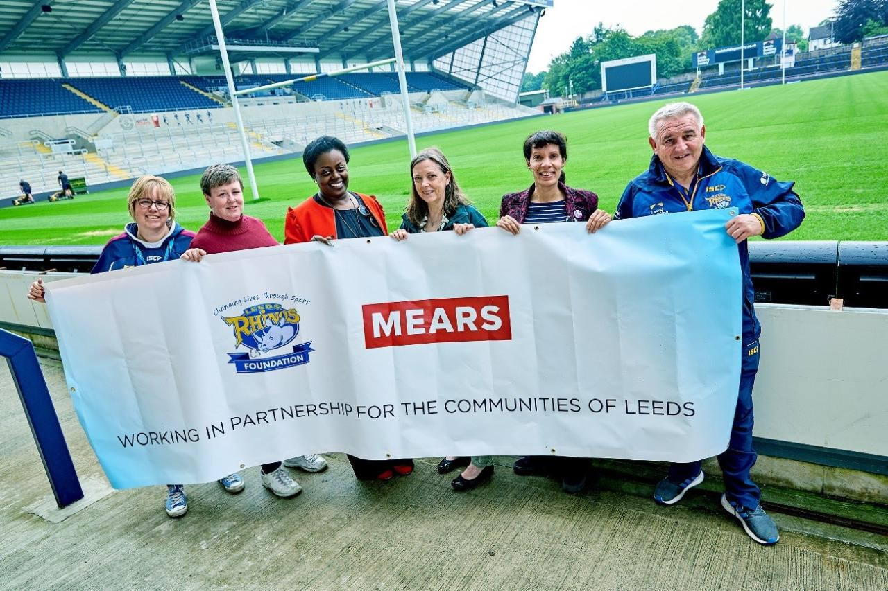 Mears has been a proud partner of Leeds Rhinos Foundation since 2013, with the partnership working together on initiatives aligned with our long-term social value commitments to Leeds City Council's supporting 'Best Council Plans' outcomes and priorities.