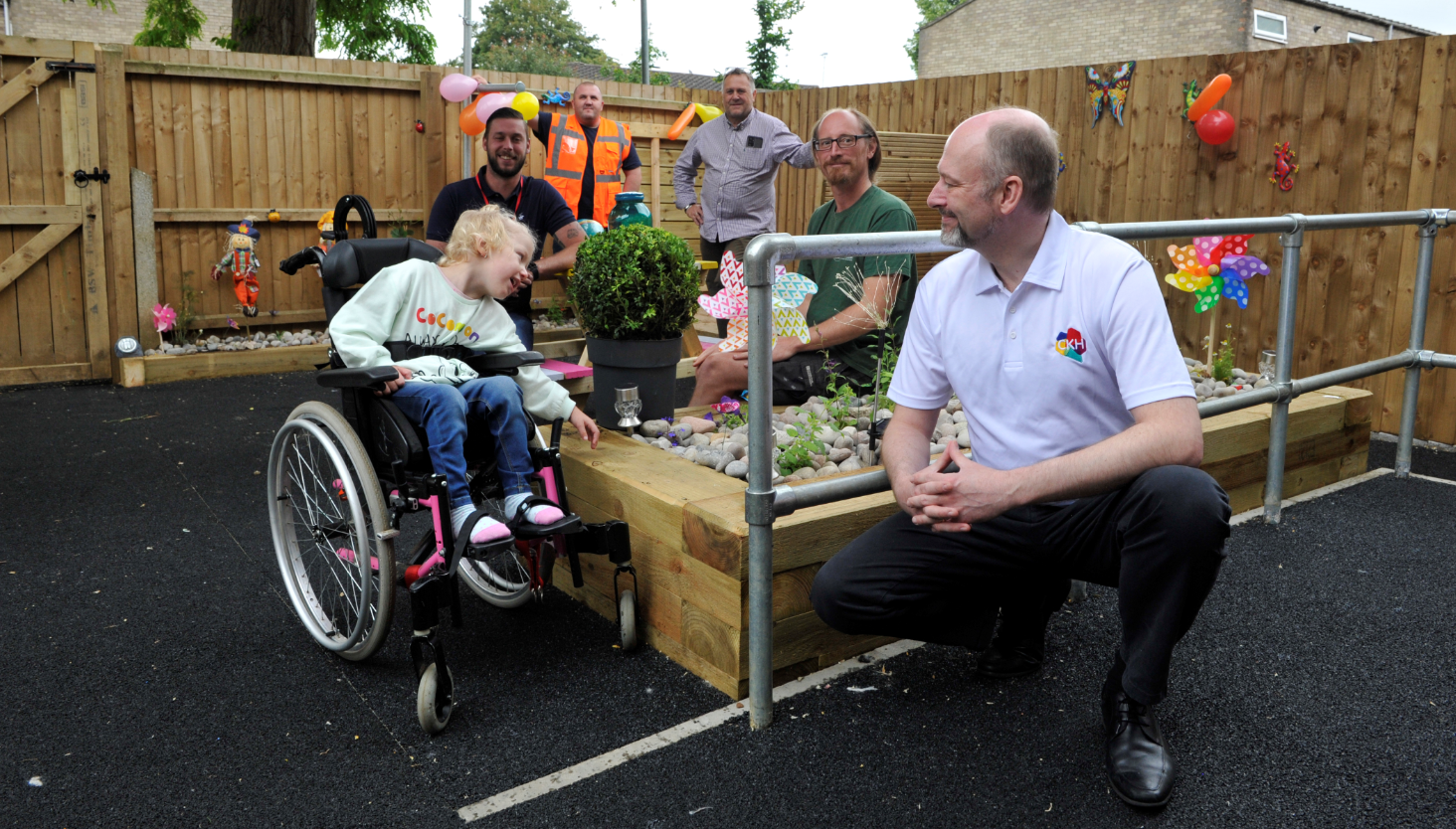 Mears and Cross Keys Homes Join Forces to Give Garden Makeover for Peterborough Girl