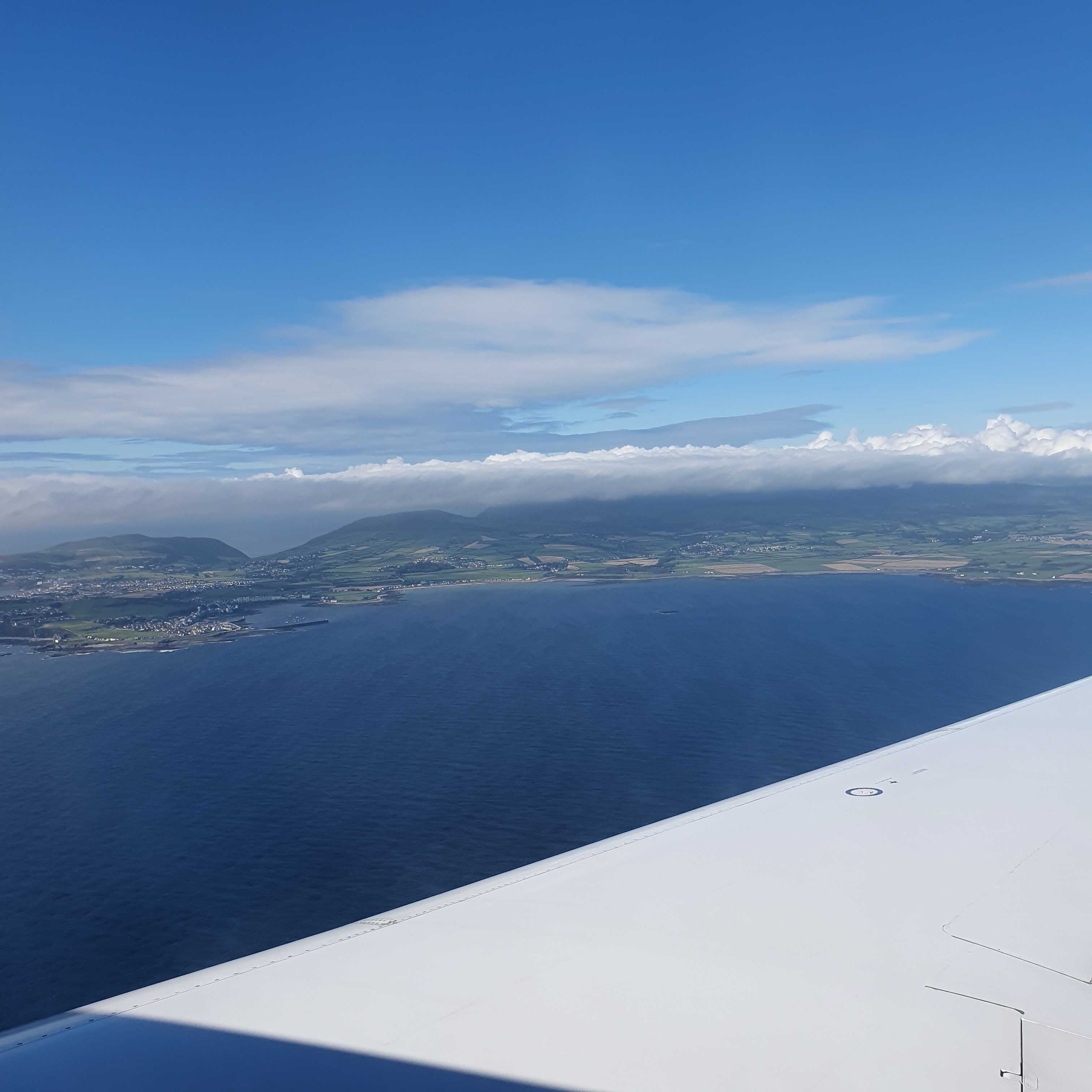 Isle of Man view from plane Synergy