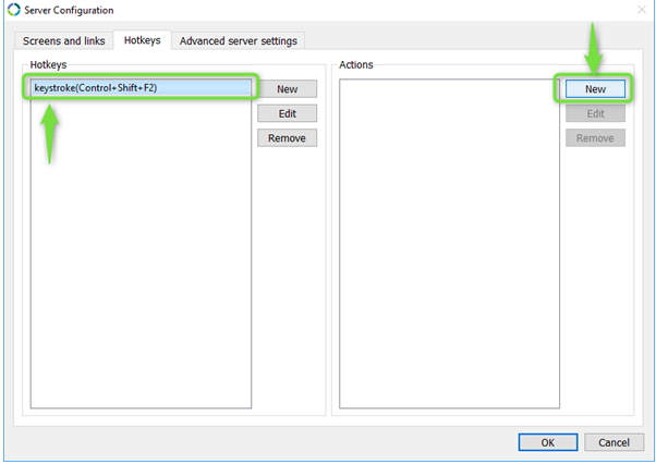 keyboard shortcut set up synergy