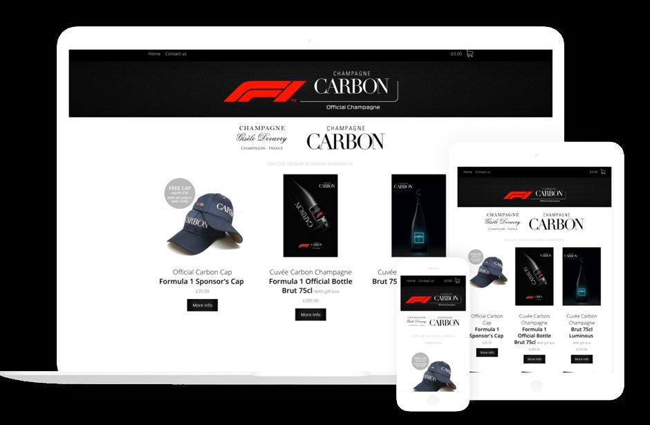 Carbon champaign bespoke web design