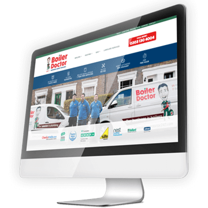 Boiler Doctor web design for a london company