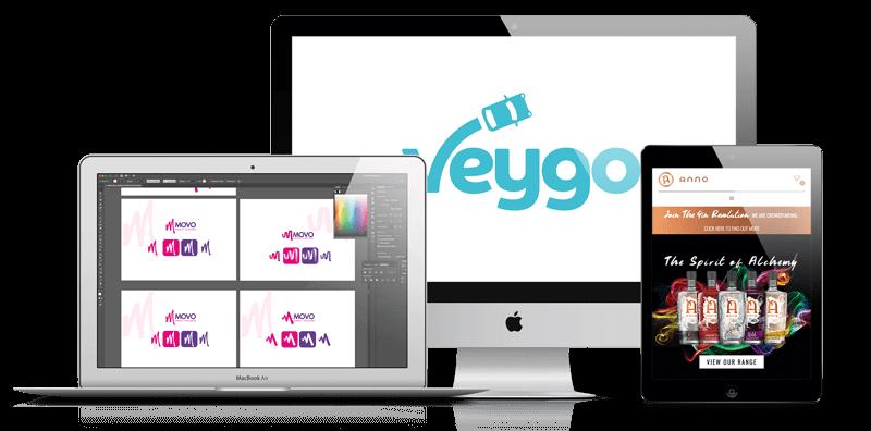 Web Design London for Veygo Logo, Movo & Anno Gin