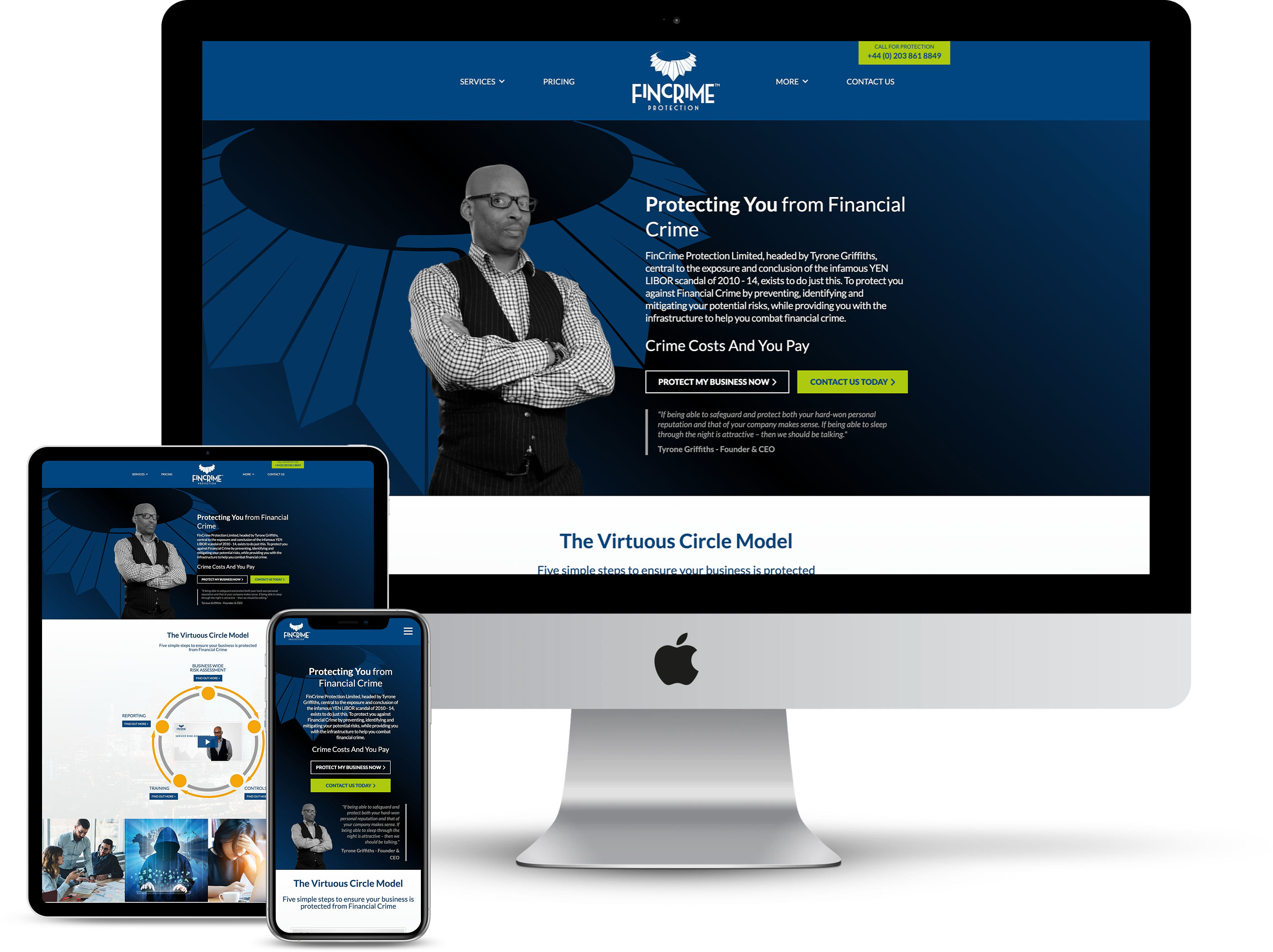 Example of a web design project