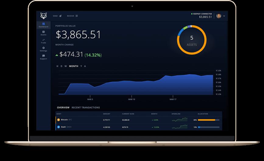 KeepKey wallet interface