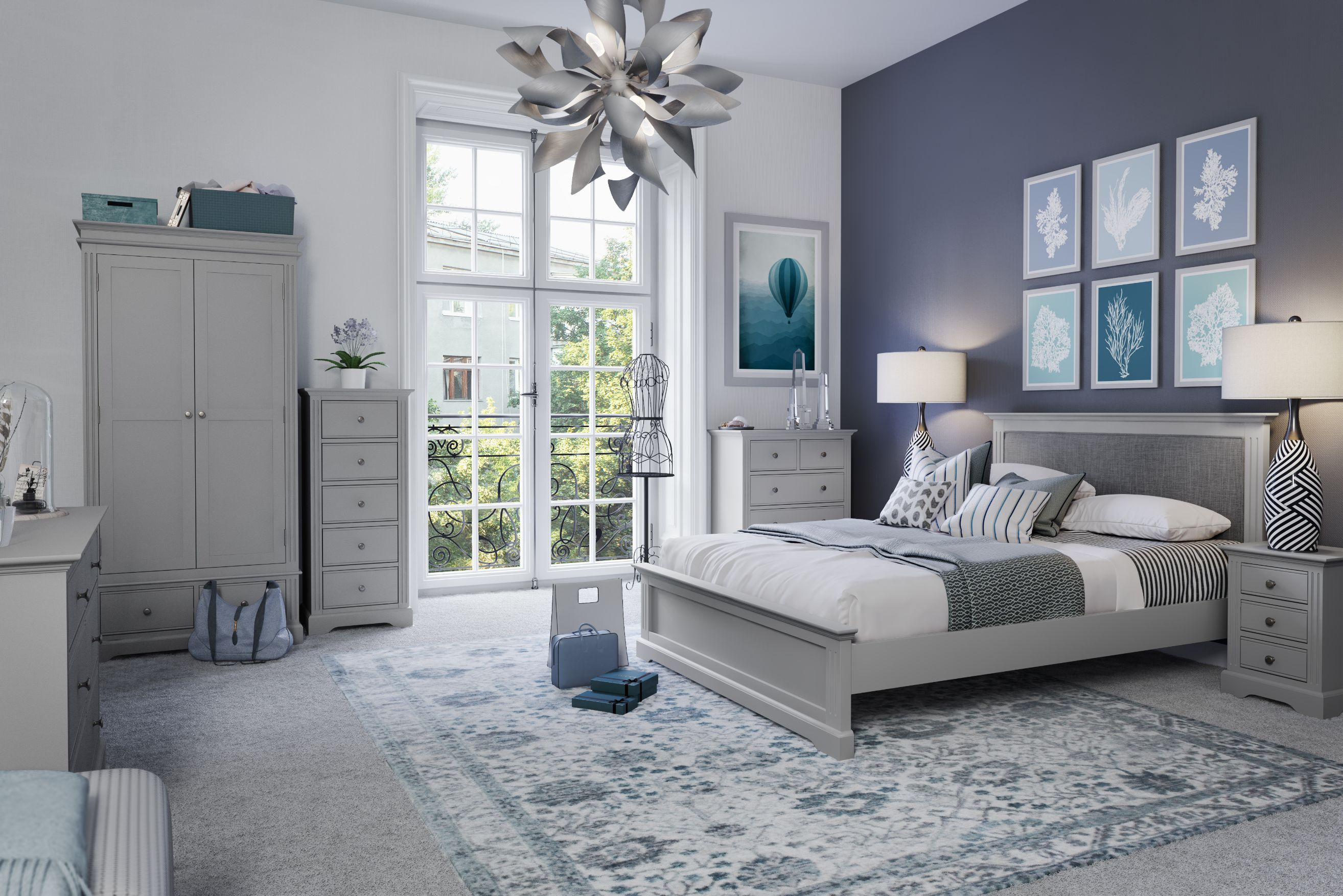 Kettle Interiors - EIFFLE GREY - Bedroom
