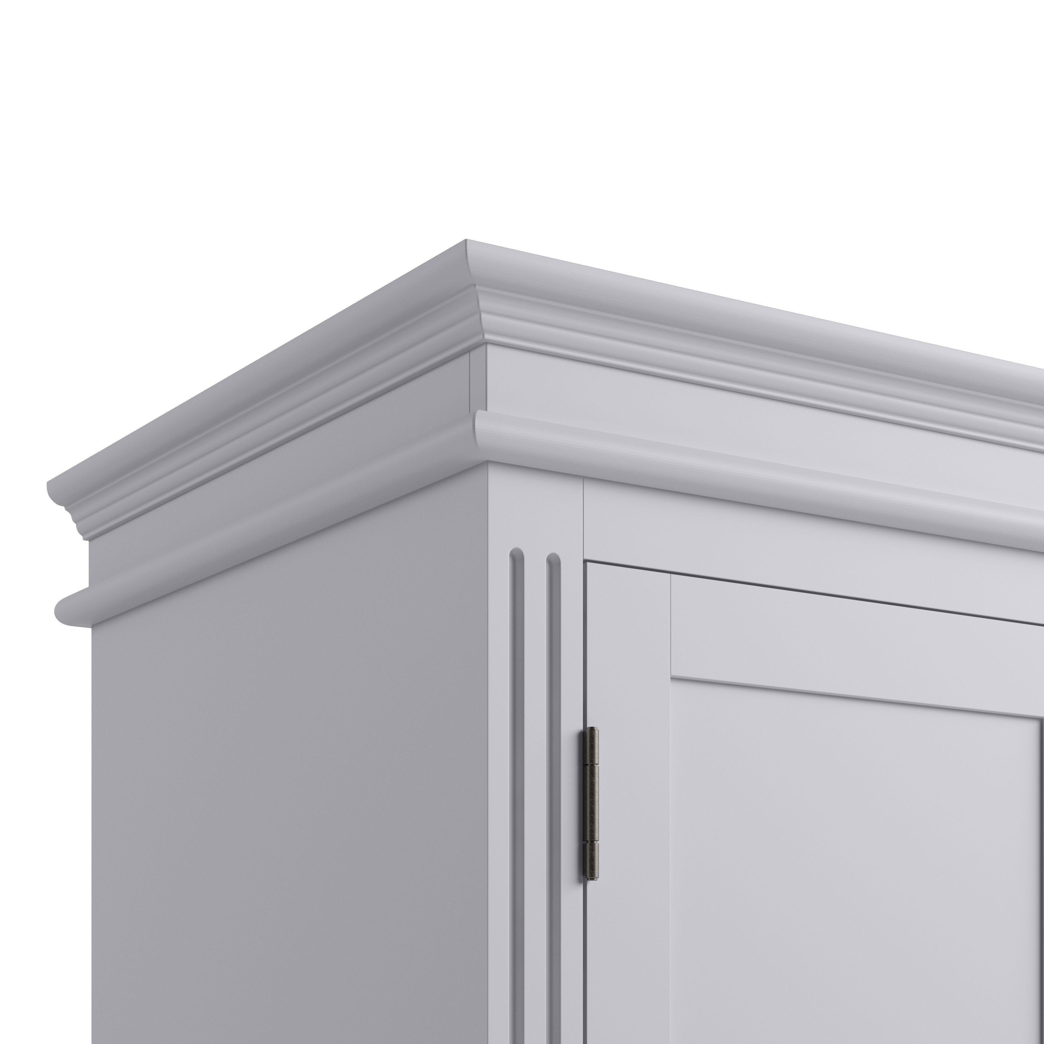 EIFFLE GREY - 2 Door Wardrobe