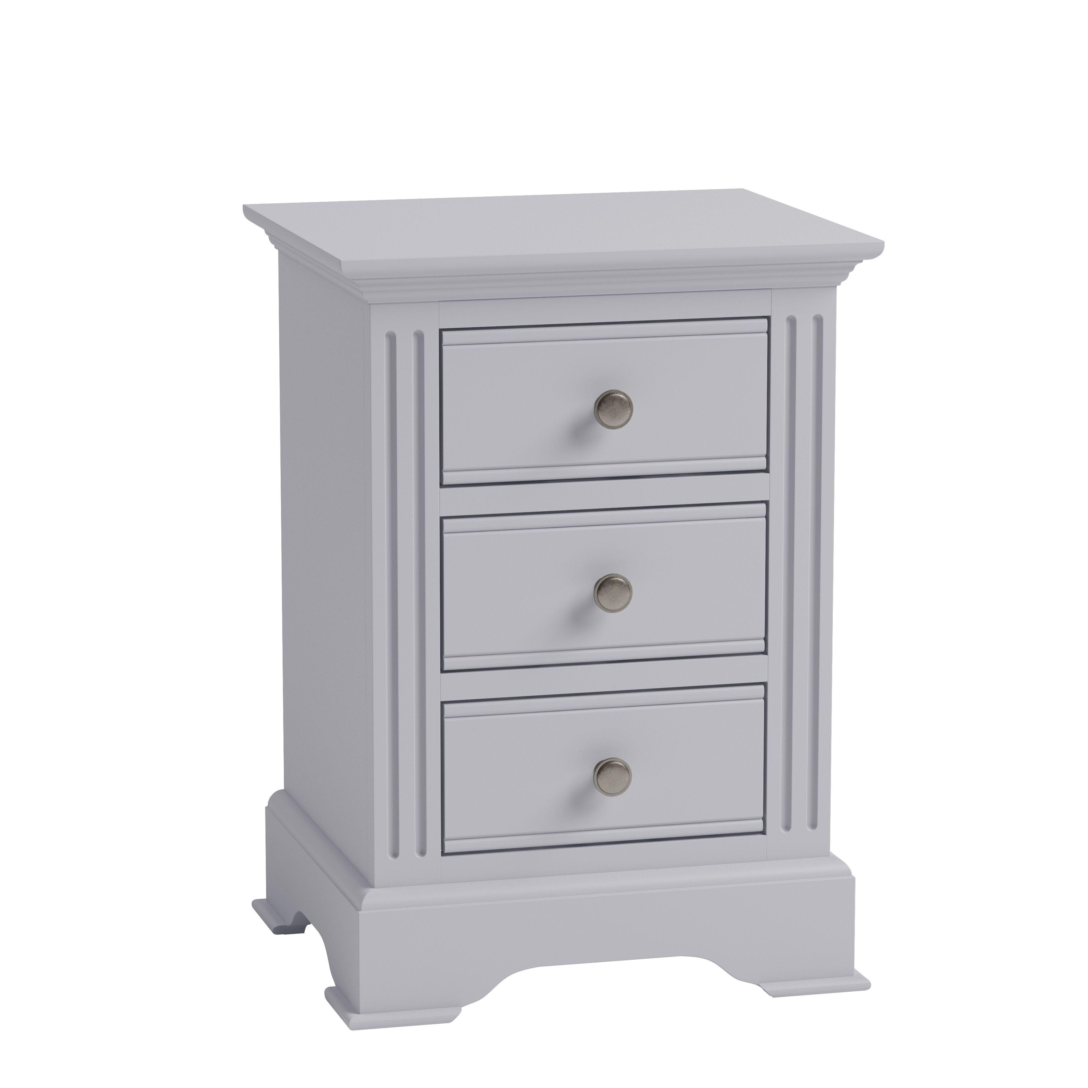 EIFFLE GREY - Large Bedside Cabinet