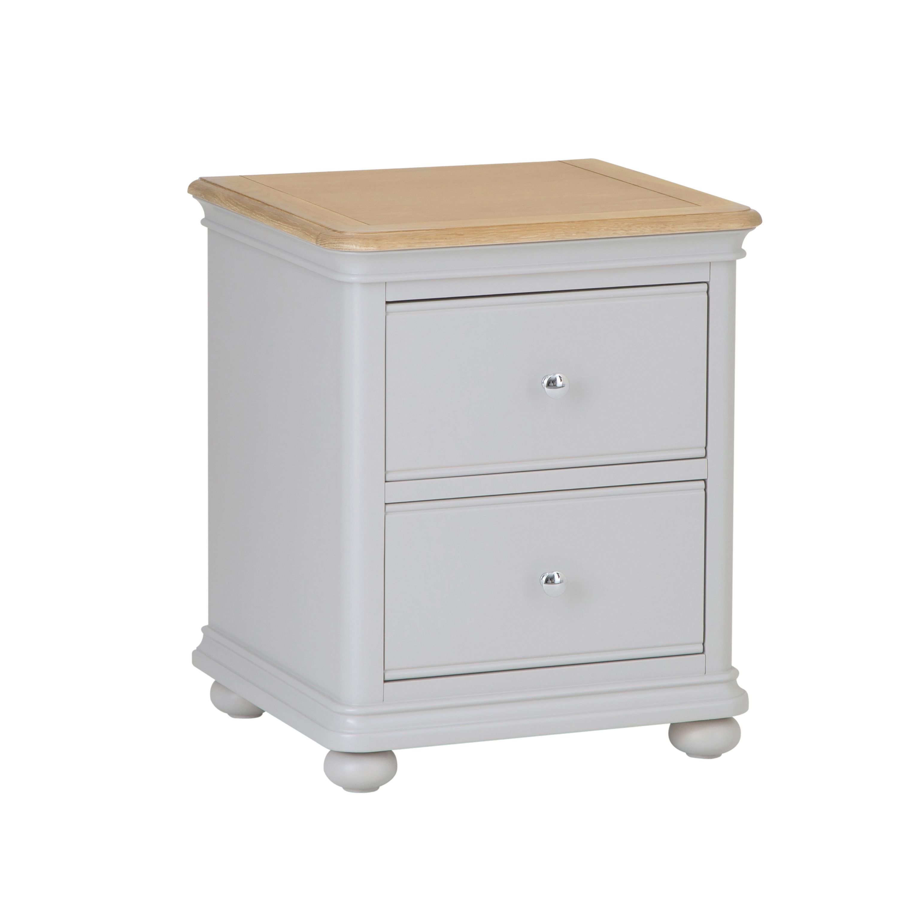 MAINE - 2 Drawer Bedside Cabinet