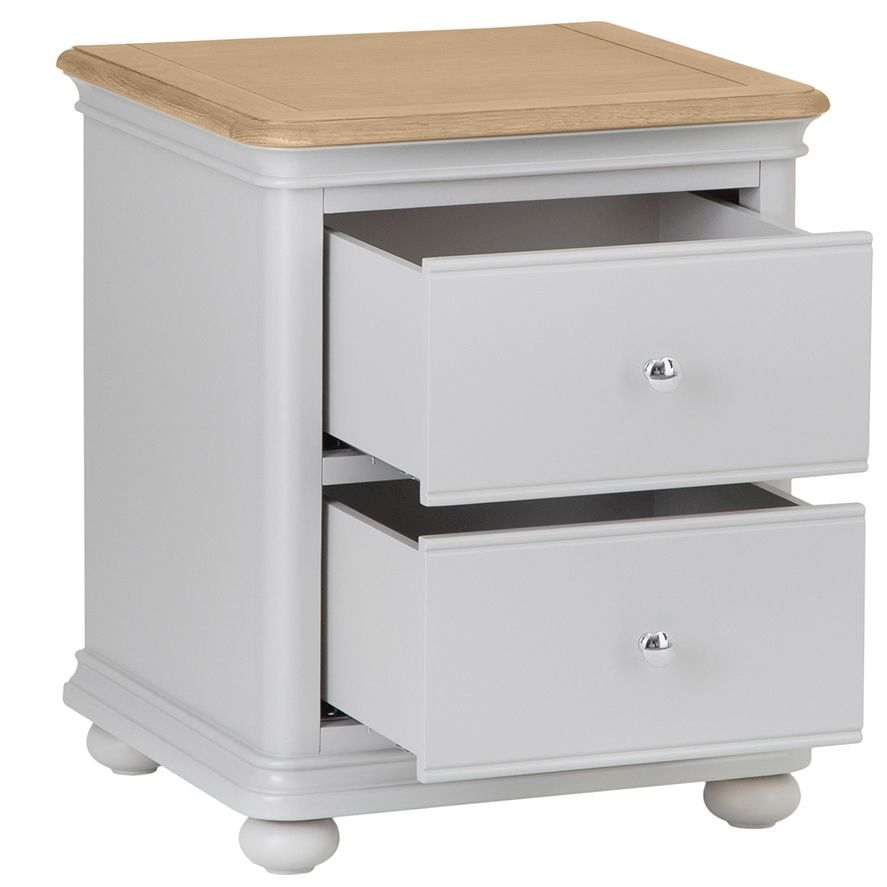 MAINE - 2 Drawer Bedside Cabinet