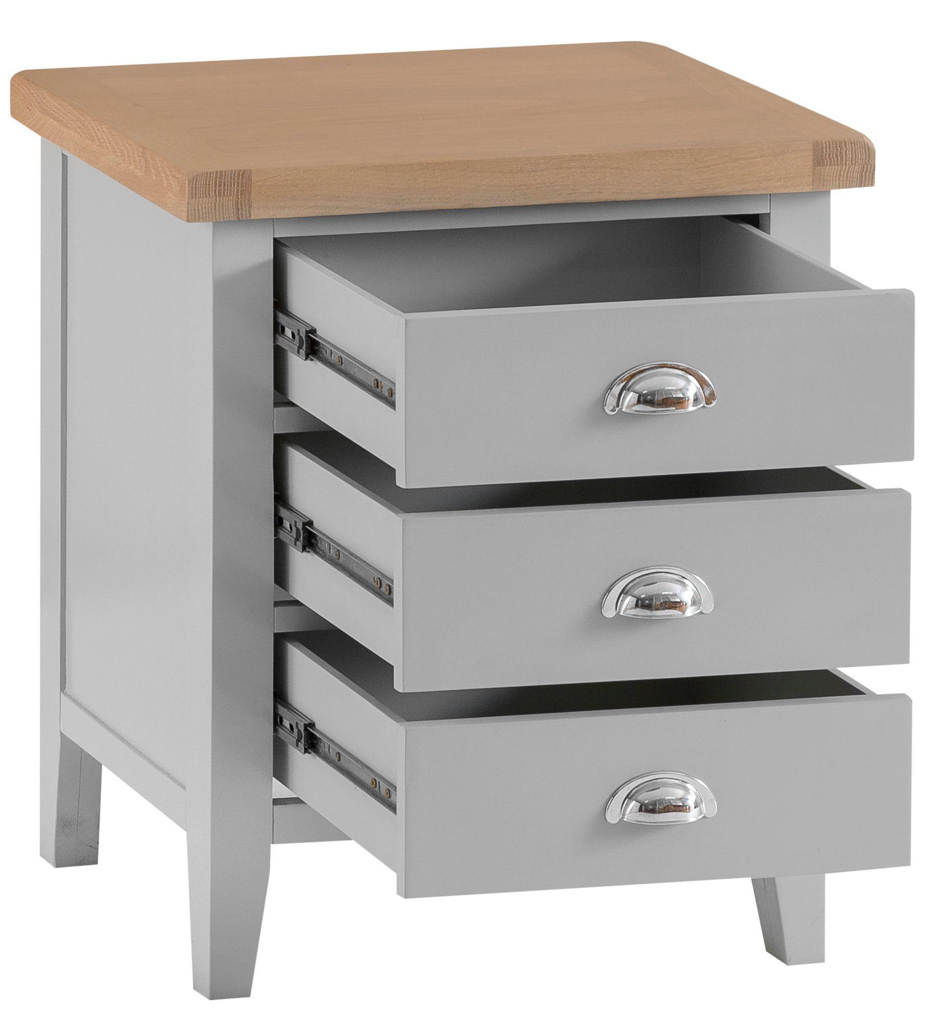 Picture of: Tavistock Grey Extra Large Bedside Cabinet Bedroom Furniture Alexander Ellis