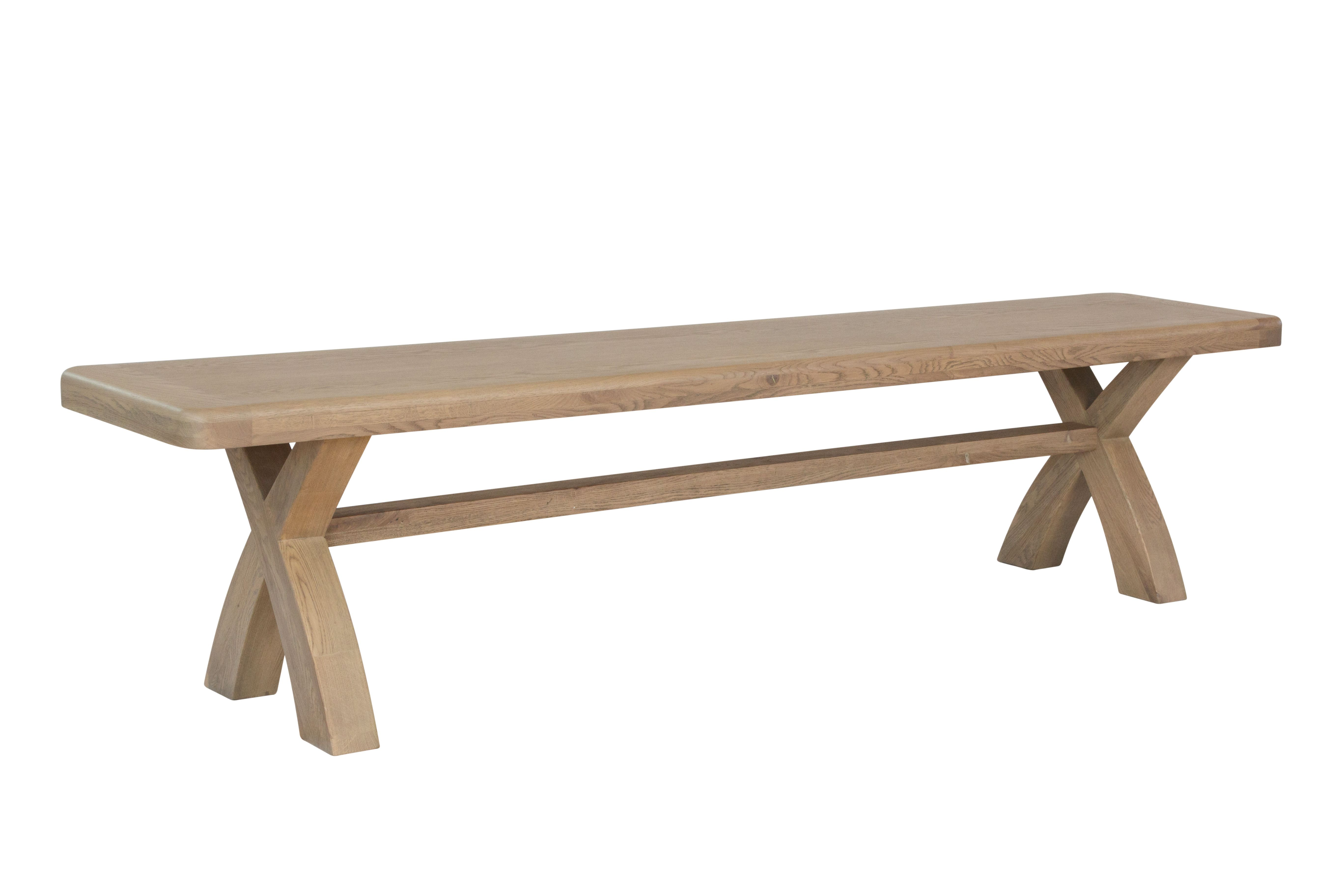 HOULGATE OAK 2m Cross Leg Dining Bench