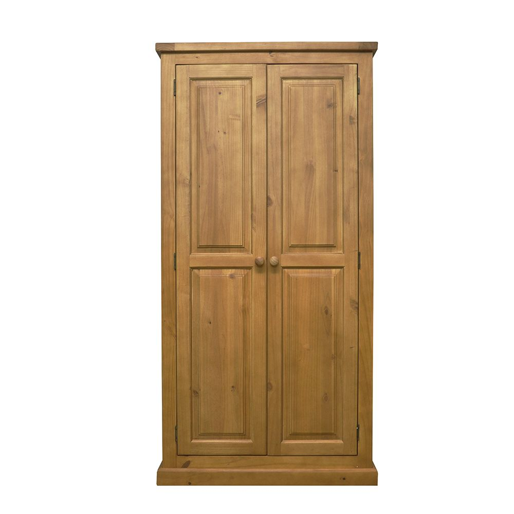 CHUNKY PINE 2 Door Full Hanging Wardrobe